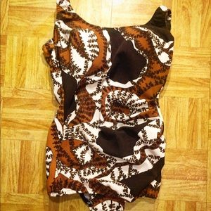 Vintage 60's one piece swimsuit sz med